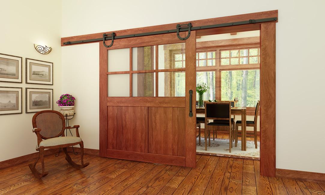 Superbe Horseshoe Barn Door Rail And Hardware